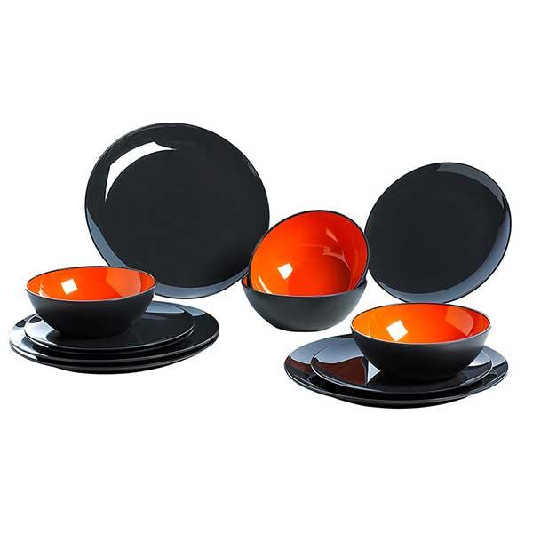 Gimex-Geschirrset-GreyLine-orange_600