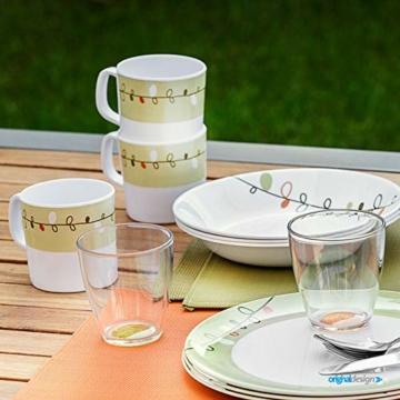 Brunner: Melamin Campinggeschirr, 4 Personen (36 Teilig), Esprit All Inclusive, Zum Campen, Grillen Und Picknicken - 7