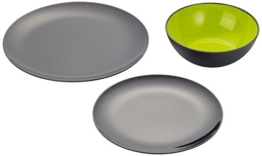 Gimex Geschirr Set Grey Line Lemon