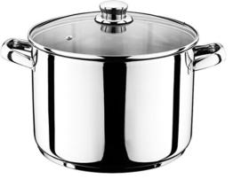 Smartweb 10 Liter Universal Kochtopf mit Glasdeckel Suppentopf Universaltopf Topf Eintopf INDUKTION (10 Liter) - 1