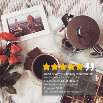 720°DGREE Premium French Press Kaffeebereiter Sunrise - 1Liter | Für den Höchsten Kaffeegenuss aus Edelstahl mit permanent Filter/Sieb | Elegante Kaffeekanne für 4 bis 8 Tassen heißen Kaffee - 3