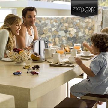 720°DGREE Premium French Press Kaffeebereiter Sunrise - 1Liter | Für den Höchsten Kaffeegenuss aus Edelstahl mit permanent Filter/Sieb | Elegante Kaffeekanne für 4 bis 8 Tassen heißen Kaffee - 9