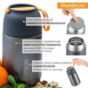 720°DGREE Thermobehälter Warmhaltebox WunderJar 650ml - Premium Isolierbehälter Box für Warme Speisen, Babynahrung, Essen, Suppe - Perfekter Edelstahl Isolier Behälter - 2
