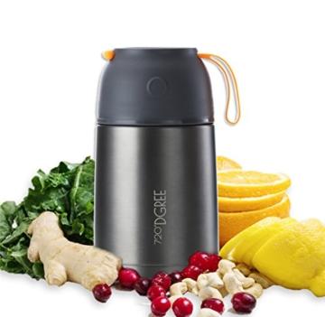 720°DGREE Thermobehälter Warmhaltebox WunderJar 650ml - Premium Isolierbehälter Box für Warme Speisen, Babynahrung, Essen, Suppe - Perfekter Edelstahl Isolier Behälter - 1