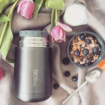720°DGREE Thermobehälter Warmhaltebox WunderJar 650ml - Premium Isolierbehälter Box für Warme Speisen, Babynahrung, Essen, Suppe - Perfekter Edelstahl Isolier Behälter - 9