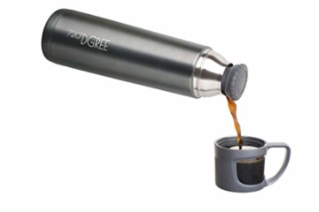 720°DGREE Thermoskanne Follow 700ml - Premium Thermosflasche - Edelstahl Isolierkanne mit Becher für Unterwegs - Neuartige Isolierflasche Perfekt fürs Kaffee & Tee - 3