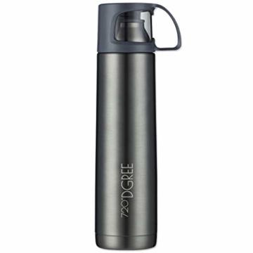 720°DGREE Thermoskanne Follow 700ml - Premium Thermosflasche - Edelstahl Isolierkanne mit Becher für Unterwegs - Neuartige Isolierflasche Perfekt fürs Kaffee & Tee - 1