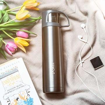 720°DGREE Thermoskanne Follow 700ml - Premium Thermosflasche - Edelstahl Isolierkanne mit Becher für Unterwegs - Neuartige Isolierflasche Perfekt fürs Kaffee & Tee - 6