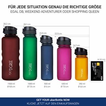 """720°DGREE Trinkflasche """"uberBottle"""" - 500 ml, 0,5 l, Blau - Neuartige Tritan Wasser-Flasche - Water Bottle BPA Frei - Ideale Sportflasche für Kinder, Fitness, Fahrrad, Sport, Fussball - 4"""