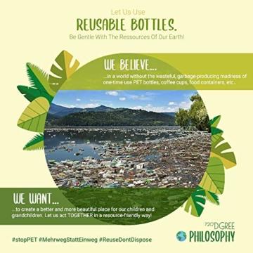 """720°DGREE Trinkflasche """"uberBottle"""" - 500 ml, 0,5 l, Blau - Neuartige Tritan Wasser-Flasche - Water Bottle BPA Frei - Ideale Sportflasche für Kinder, Fitness, Fahrrad, Sport, Fussball - 6"""