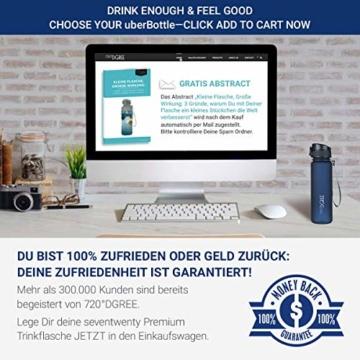 """720°DGREE Trinkflasche """"uberBottle"""" - 500 ml, 0,5 l, Blau - Neuartige Tritan Wasser-Flasche - Water Bottle BPA Frei - Ideale Sportflasche für Kinder, Fitness, Fahrrad, Sport, Fussball - 7"""