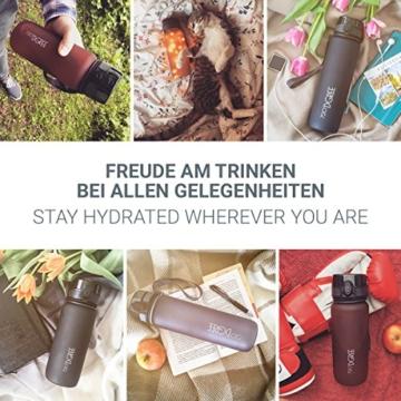 """720°DGREE Trinkflasche """"uberBottle"""" - 650 ml, 0,65 l, Schwarz - Neuartige Tritan Wasser-Flasche - Water Bottle BPA Frei - Ideale Sportflasche für Kinder, Fitness, Fahrrad, Sport, Fussball - 8"""