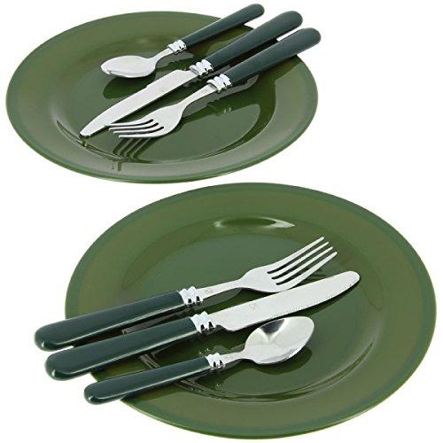 g8ds 10-teiliges komplettes Campinggeschirr und Besteck für 2 Personen Kochgeschirr Camping-Besteck-Geschirr-Set Survival Outdoor - 2