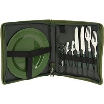 g8ds 10-teiliges komplettes Campinggeschirr und Besteck für 2 Personen Kochgeschirr Camping-Besteck-Geschirr-Set Survival Outdoor - 1