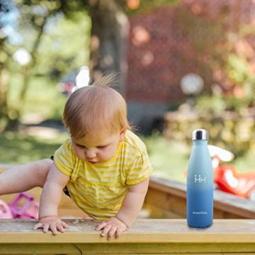 HoneyHolly Vakuum Isolierte Edelstahl Trinkflasche - 350/500/650/750 ml, Ideale Thermosflasche für Kinder, Kleinkinder, Schule, Kindergarten, Sport, Outdoor, Fahrrad, Fitness, Camping - 8