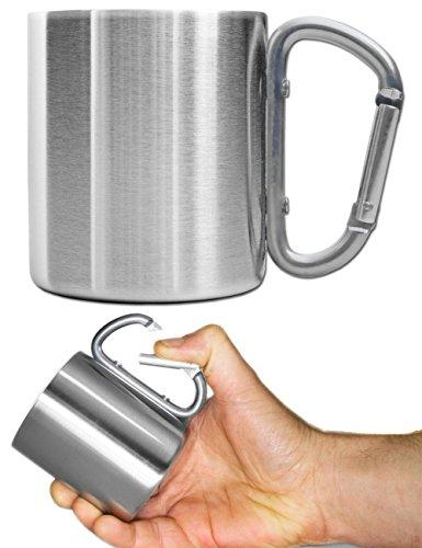 Outdoor Saxx® - Komplettes Outdoor Picknick-Set, Geschirr-Set, Edelstahl Teller, Camping BESTECK Messer Gabel Löffel, Edelstahl Tasse Becher, Tasche, 7-teilig - 6