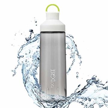 """Trinkflasche """"twinBottle"""" – 950ml - Tritan Wasserflasche mit 2-Wege-Öffnung - Auslaufsichere Sportflasche - BPA Frei - Perfekt für Sport, Outdoor, Schule - Einfaches Befüllen & Reinigen Dank Weithals - 1"""