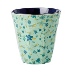 """rice Becher Melamin Trinkbecher """"Blue Floral"""", H9cm"""